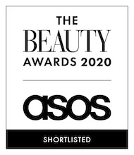 "The Perfect Body Lotion, ASOS Beauty Awards, shortlisted in the ""Face + Body Innovator"" category"